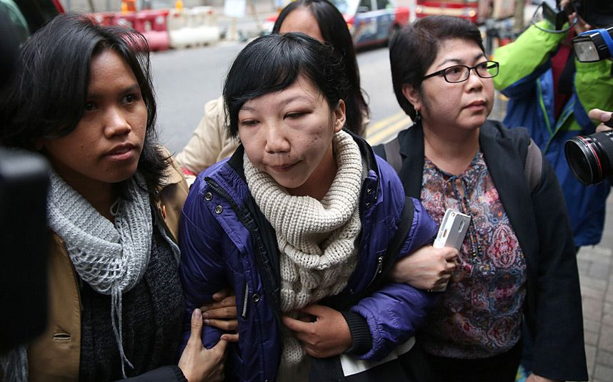 Hong Kong woman convicted in Indonesian maid torture case