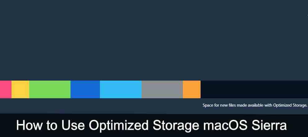 How to Use Optimized Storage macOS Sierra - MacBook, Air