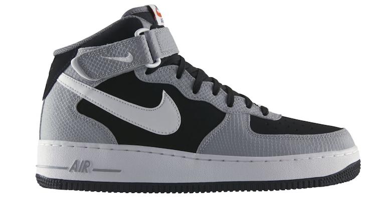 nike air force 1 mid blackwolf grey