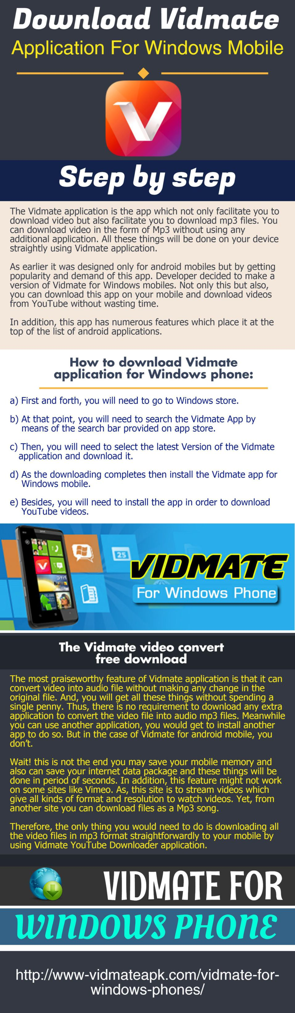 The Vidmate application is the app which not only facilitate