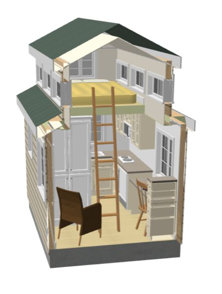 alan reid's x tiny house design, 8x12 tiny house, 8x12 tiny house floor plans, 8x12 tiny house on wheels