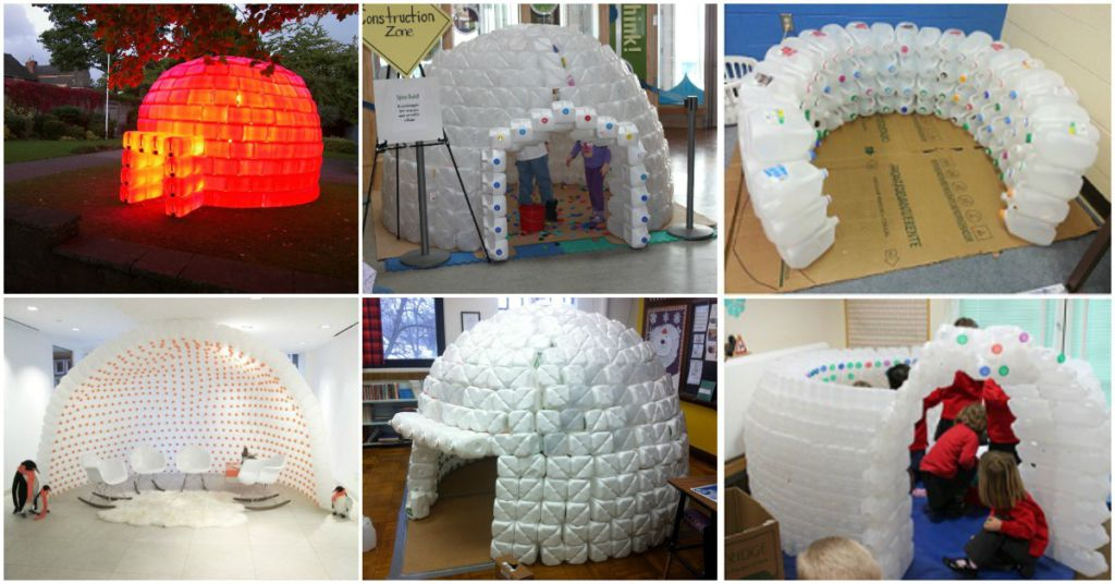how to build a milk jug igloo video