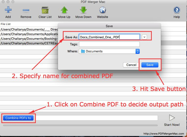 merge pdf documents mac free