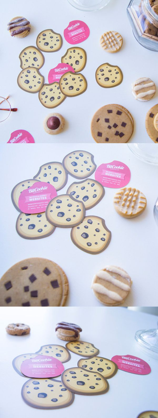 Cookie Shaped Business Card Business Cards The Design