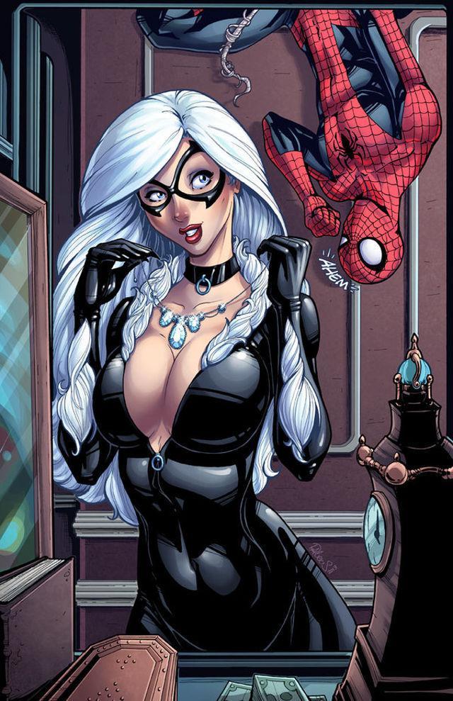 spiderman black cat - 485×750