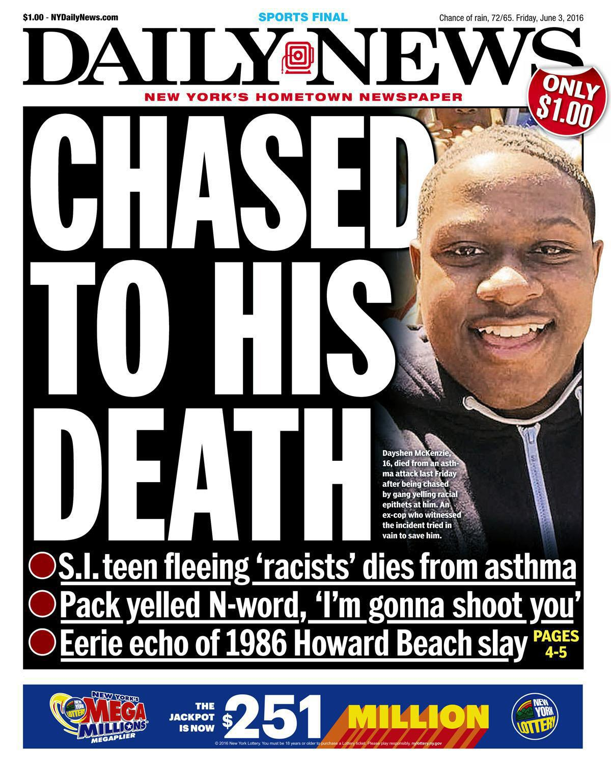 New York Teen Dies From Asthma Attack After Running From