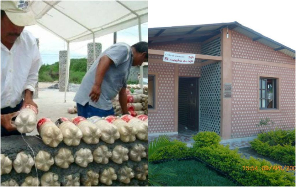 This amazing house is built with recycled plastic bottles to serve the great purpose - Building a house with plastic bottles ...