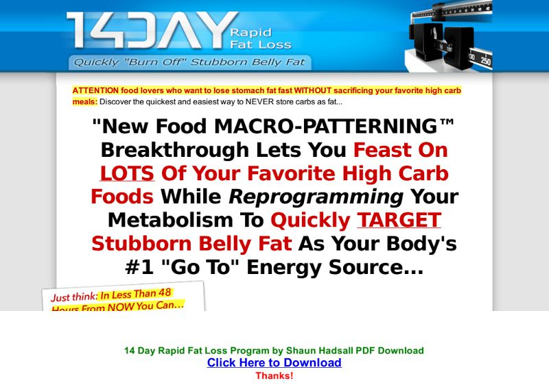 rapid fat loss plan pdf
