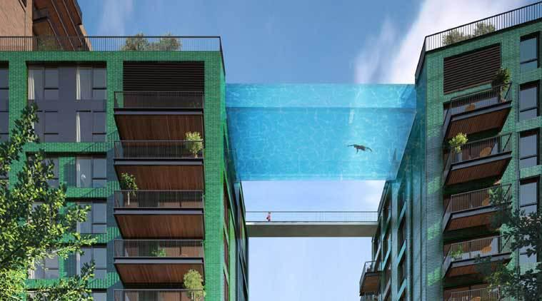 This sky swimming pool in london is all glass and between - Apartments with swimming pool london ...