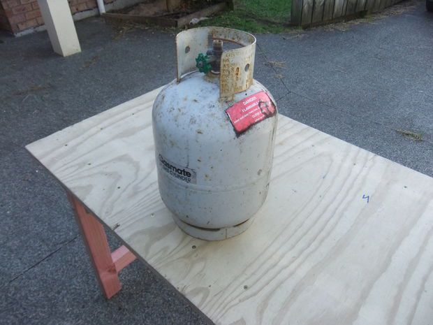 Gas Bottle Fire Pit Brazier Barbeque Grill