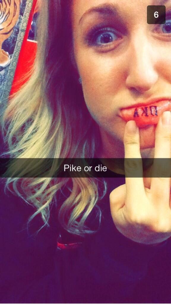 Pike Dream Girl At The University Of Arizona Tattooed The