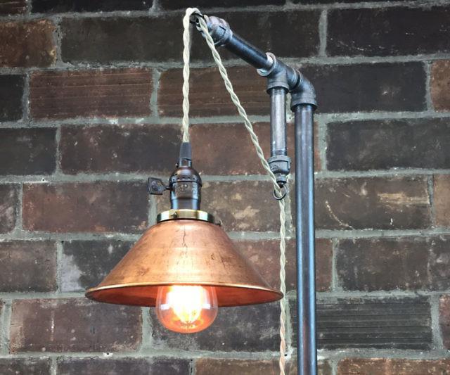 Industrial floor lamp for Cavelleto 3 light floor lamp