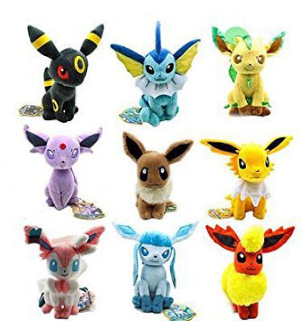 Pokemon Eevee Plush Set 9pcs For Kids