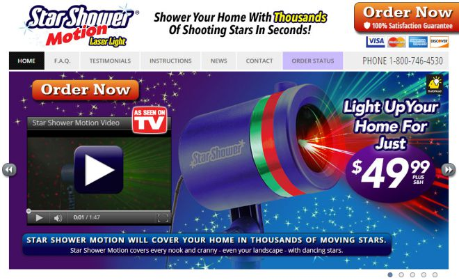 Star shower motion review does it work for Projecteur laser shower motion