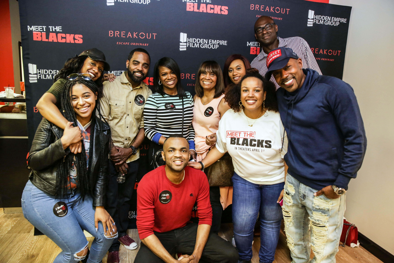 Celebs Escape The Room At Meet The Blacks Celebrity