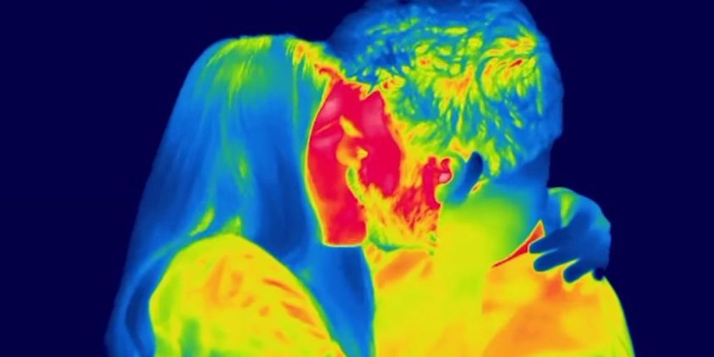 What Kissing Looks Like On A Heat-Detecting Camera