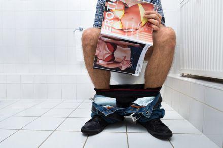 caught bathroom