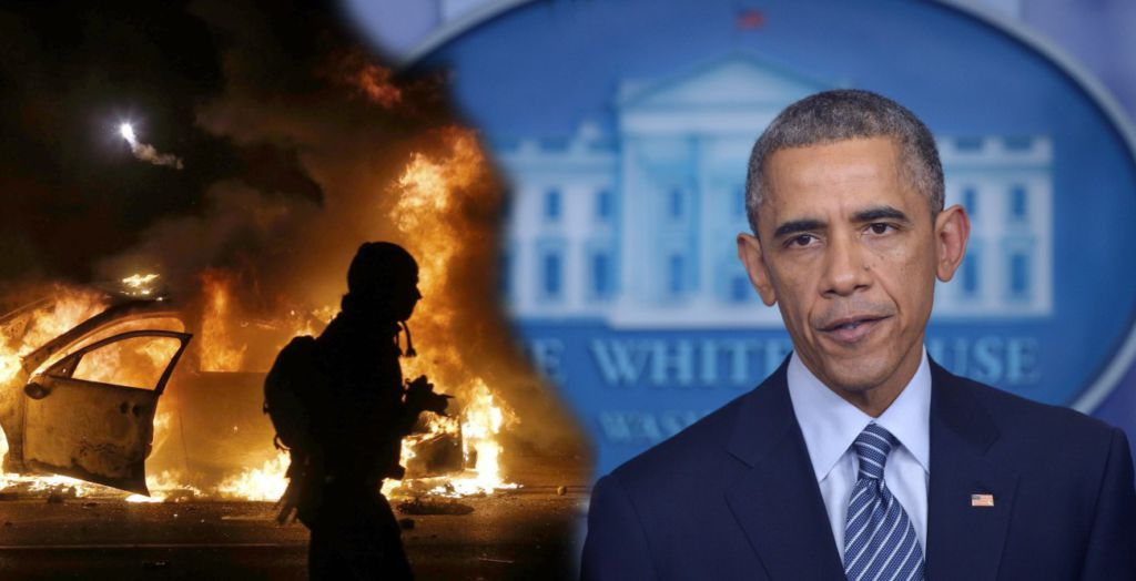 Barack Obama Hypocritically Stirs Fergusons Racial Tensions Sons