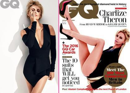 Image result for charlize theron at british gq 2016