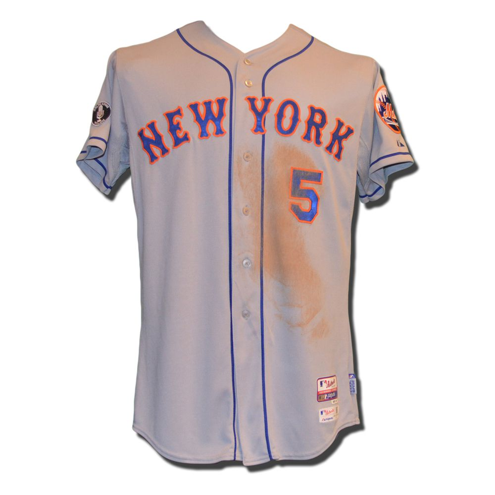 reputable site cfc83 c7aa8 David Wright #5 - Game Used Road Grey Jersey - Wright Goes 2 ...