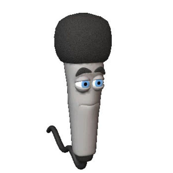 Женщин, гифка микрофон