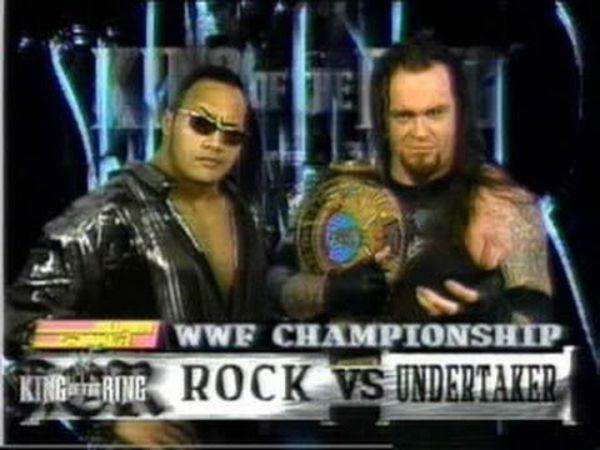 Video: Undertaker vs  The Rock WWF Championship