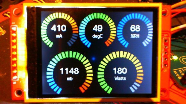 Arduino Analogue Ring Meter On Colour Tft Display