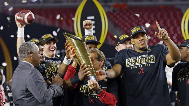 will alabama go to the national championship las vegas odds college football