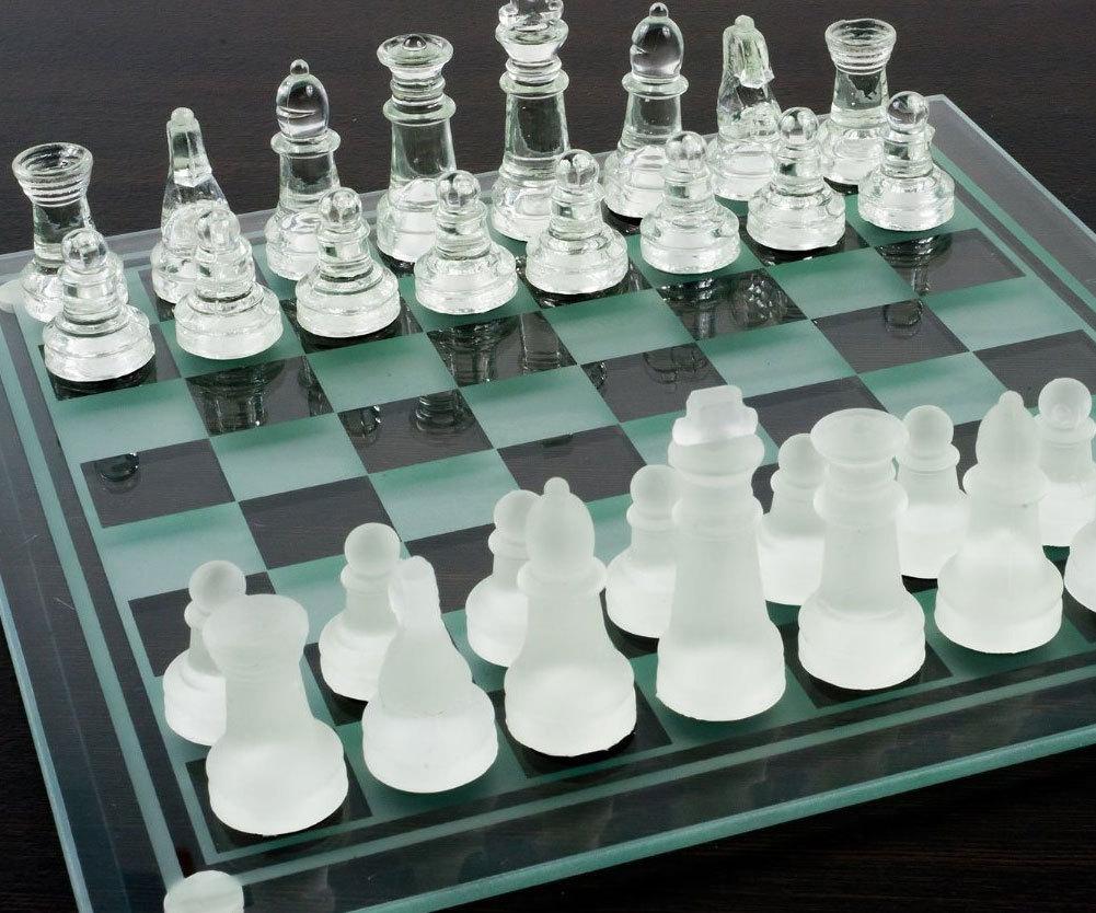 стеклянные шахматы купить