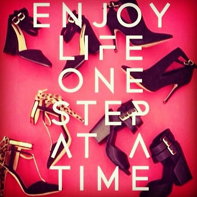 Enjoy life one (fashionable) step at a time! #qotd #monday