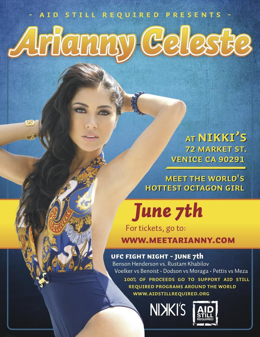 Meet And Greet Ufc Octagon Girl Arianny Celeste For Charity
