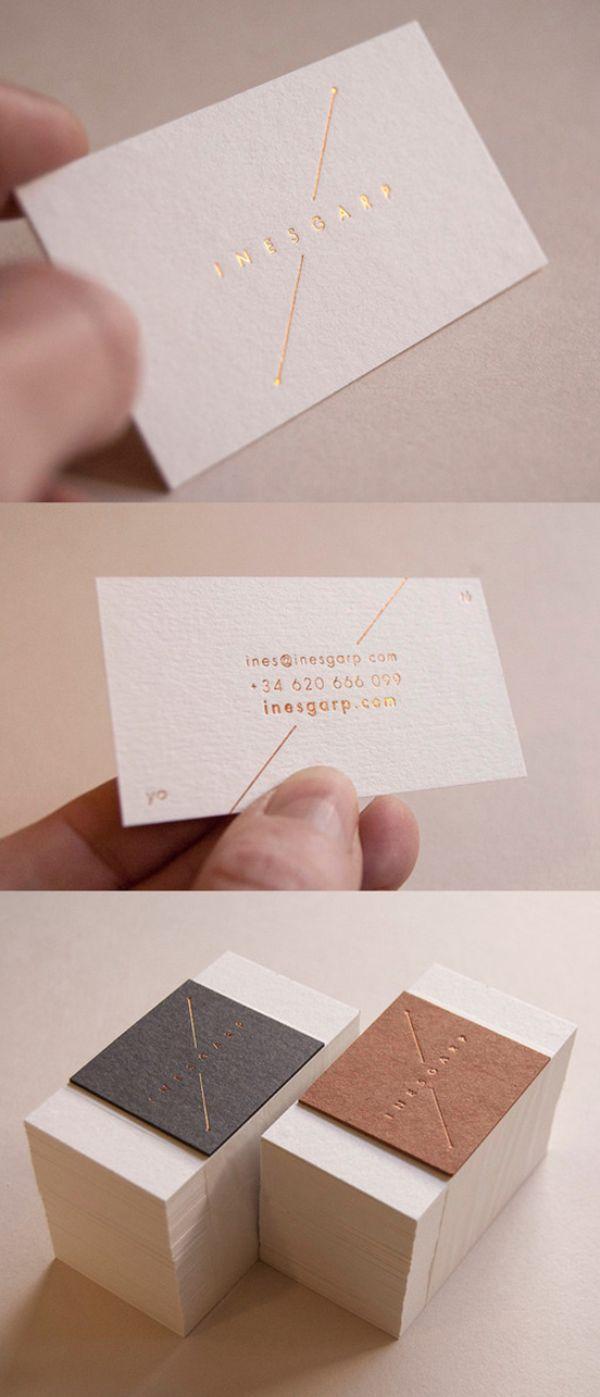 Elegant Understated Gold Foil Business Card Business
