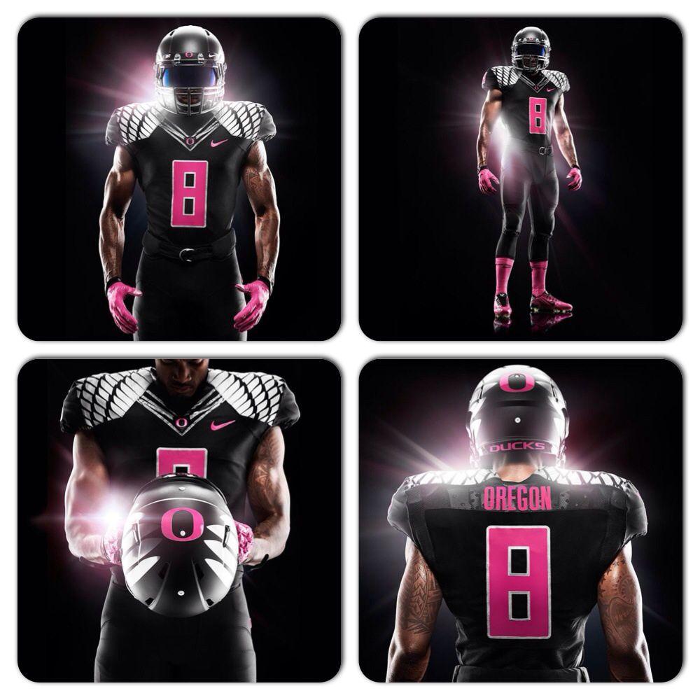 new concept 05933 0ddba Oregon's Breast Cancer Awareness uniforms