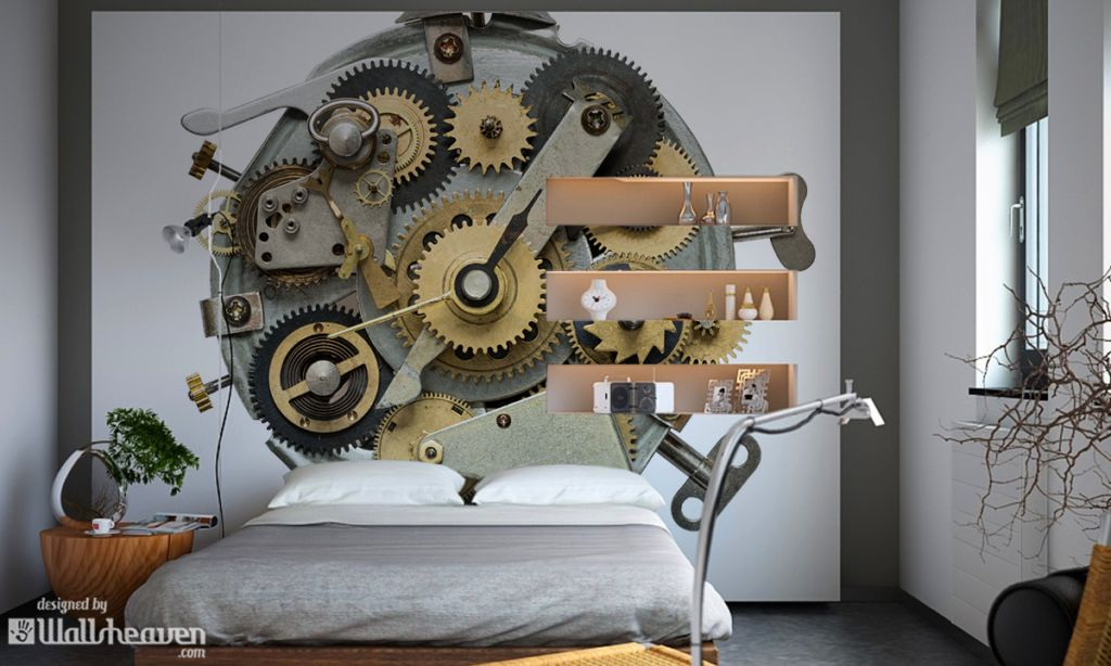 Steampunk interiors It s more than wall murals and wall