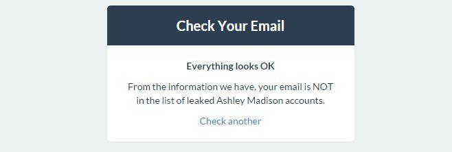 check email address ashley madison