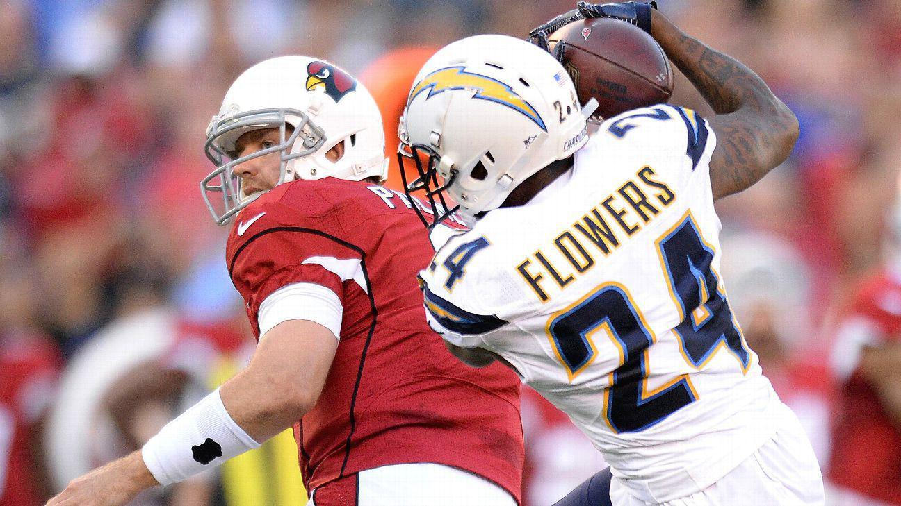 Chargers Cb Brandon Flowers Out Third Straight Game With