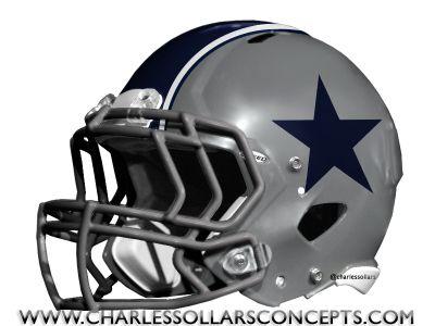 Dallas cowboys grey helmet concepts - Dallas cowboys concept helmet ...