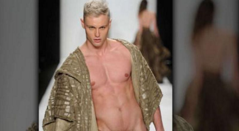 Male Model Takes His Birthday Suit For A Strut Down The -9222