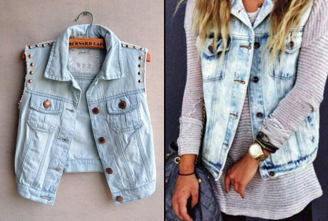 is Here: Transform Your Jean Jacket into Our DIY Denim Vest