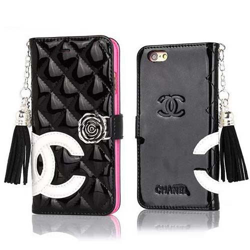 info for 8c019 bbec9 Chanel Iphone 6 plus embossed patent leather wallet case with mirror