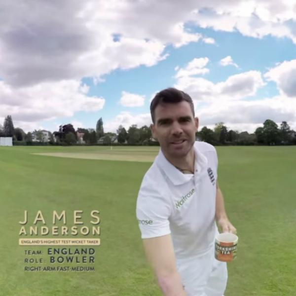 Michael Vaughan faces off against James Anderson in ...