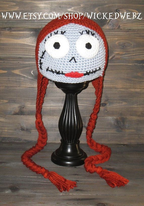 Crochet Pattern For Jack Skellington Hat : ADULT Sally The Nightmare Before Christmas crochet hat ...