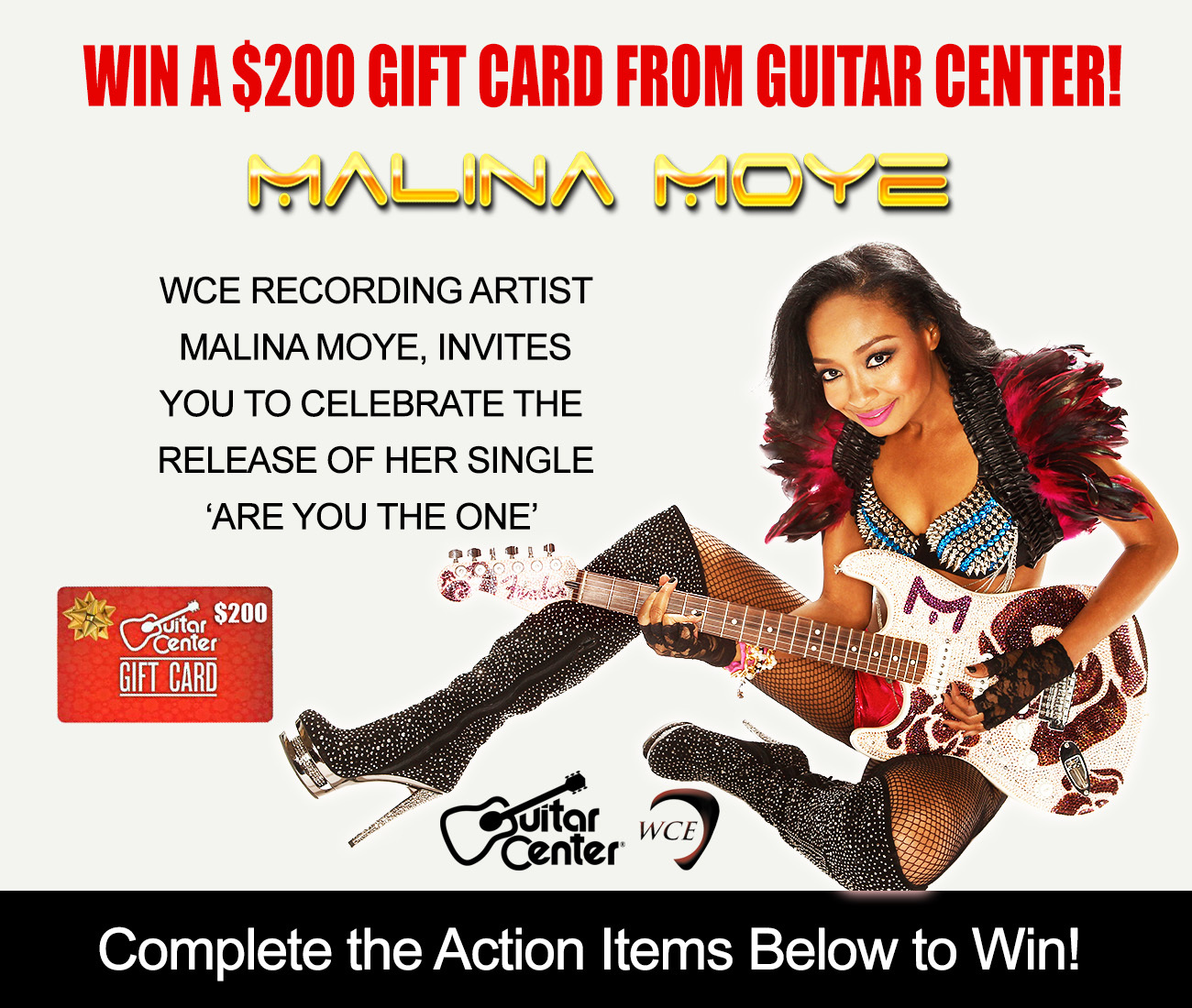 win a 200 gift card from guitar center. Black Bedroom Furniture Sets. Home Design Ideas