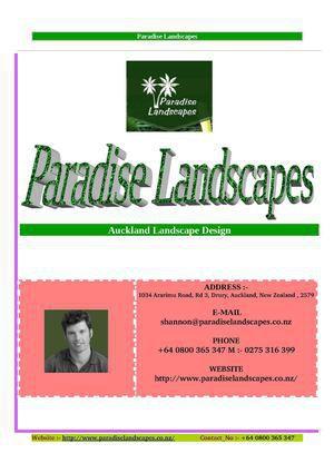 Paradiselandscape paradiselandscape lockerdome for Auckland landscaping companies