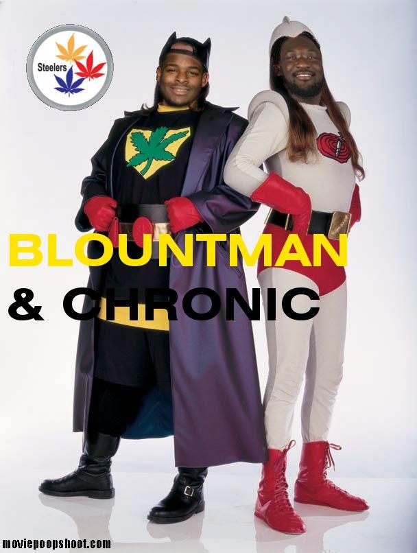 Le'Veon Bell and LeGarrette Blount form superhero duo.