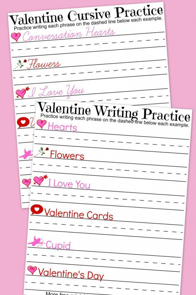 Valentine S Day Handwriting Worksheets A Mom S Take