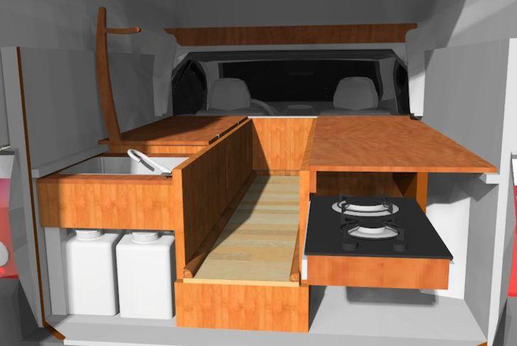Chevrolet Montana DIY Truck Camper With Fiberglass Truck Cap