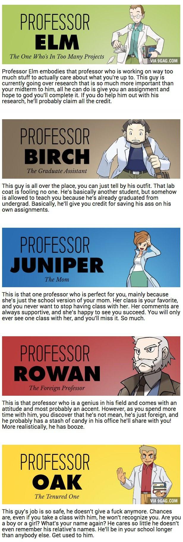 The College Equivalent Of Pokemon Professors