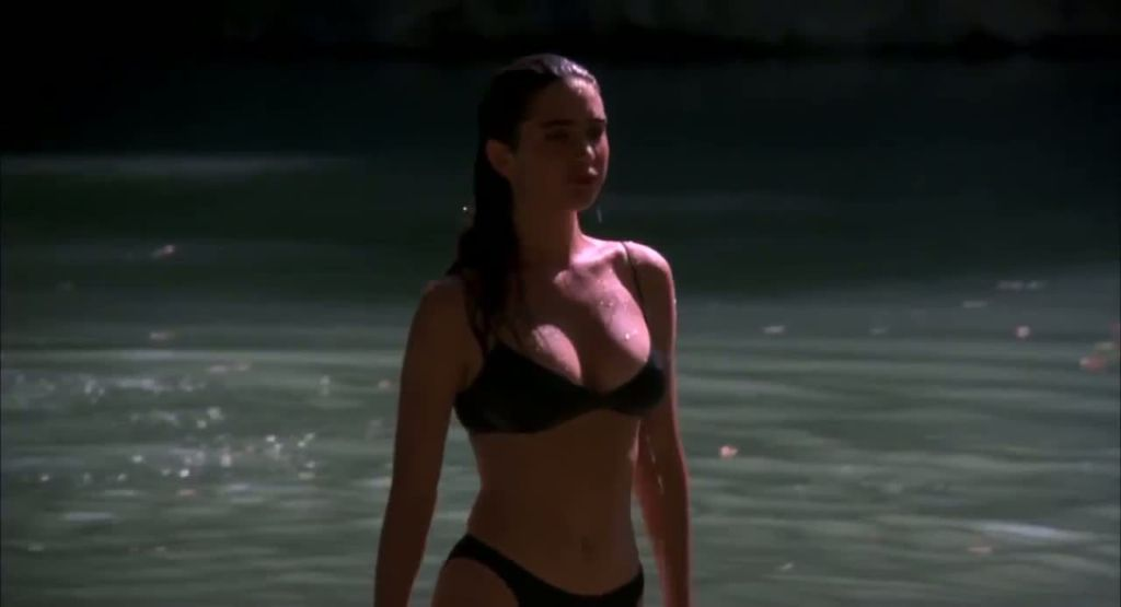 Jennifer Connelly Struts In A Black Bikini - The Hot Spot -6905