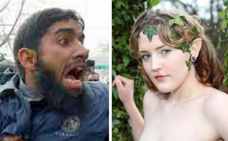 asielzoekers overstuur door nudisten